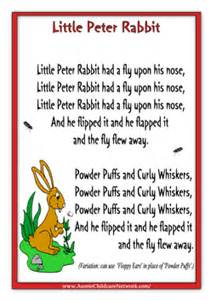 what rhymes with color rabbit children rhymes nursery rhymes