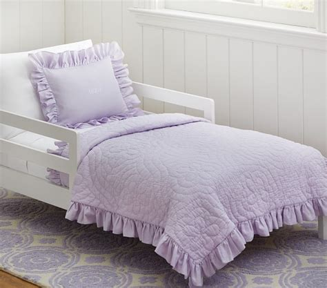 Quilted Toddler Bedding by Ruffle Toddler Quilted Bedding Pottery Barn