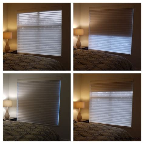 sheer and blackout shades for your bedroom transitional
