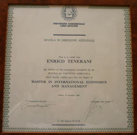 Bocconi Mba Italiani Estero by Studio Legale Tenerani 183 Verona