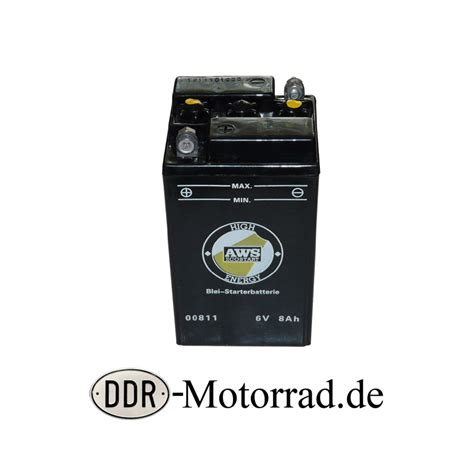 Motorrad Batterie Pflege by Batterie 6 V 8 Ah Simson Awo Sport Ddr Motorrad De