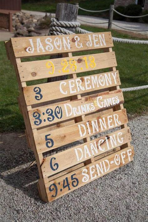 s in ideas 10 diy pallet sign ideas for wedding 99 pallets