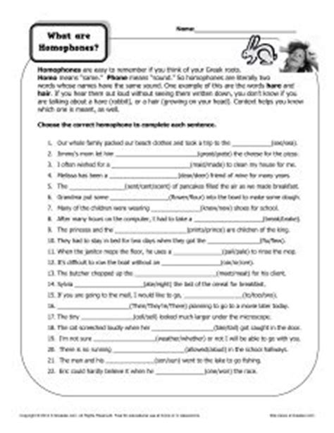 Free Homograph Worksheets by 1000 Images About Homophones Homographs On Homographs Worksheets And