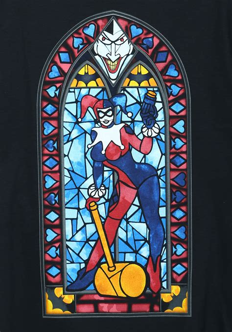 harley quinn stained glass mens t shirt