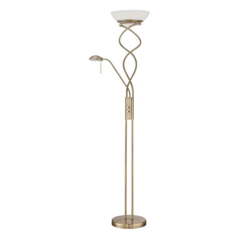 antique floor reading l shop kendal lighting 72 in antique brass torchiere with