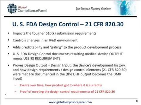 design application filing requirements design controls requirements for medical device