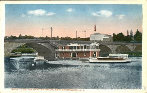 raritan river boat club boat club on raritan river new brunswick nj postcard