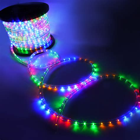 Blue Rope Lights Outdoor 150 2 Wire Rgb Led Rope Green Blue Light Outdoor Home 110v Lighting 1 2 Quot Ebay