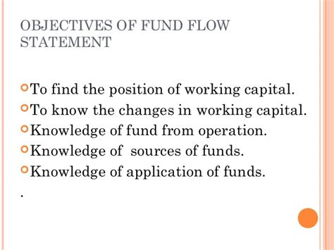 objectives of fund flow statement objectives of fund flow statement 28 images