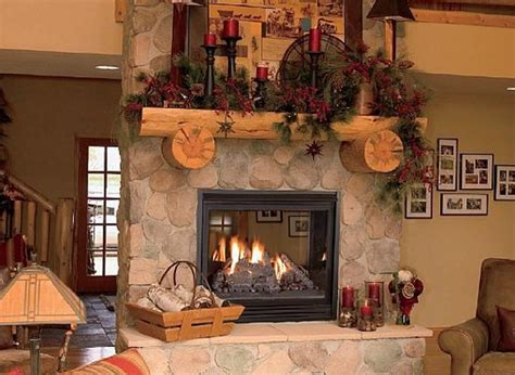 christmas fireplaces ornament ideas