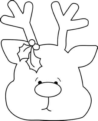 best photos of christmas reindeer outline christmas