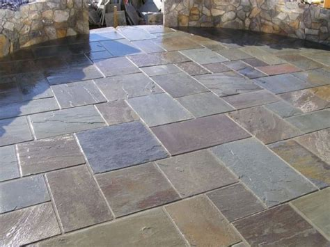 Slate Pavers For Patio with Triyae Backyard Tiles Various Design Inspiration For Backyard