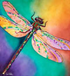 illusion 21 x 20 dragonfly watercolor a r t pinterest