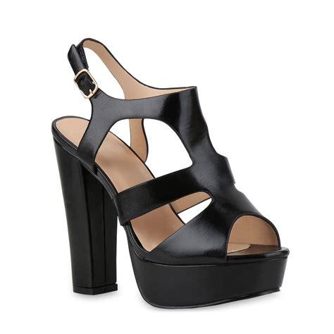 ab wann sind schuhe high heels damen sandaletten plateau high heels blockabsatz 815126