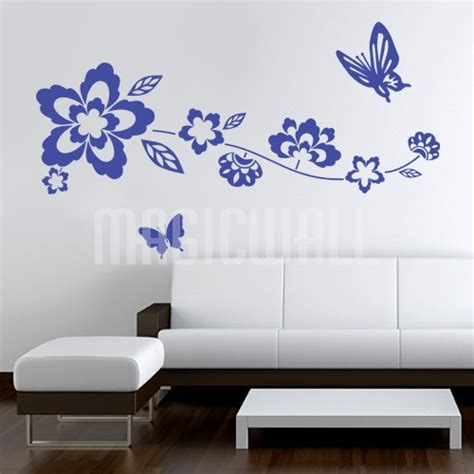 flowers and butterflies wall stickers wall mural decal stickers butterfly flowers tree home office decals cheap best free home
