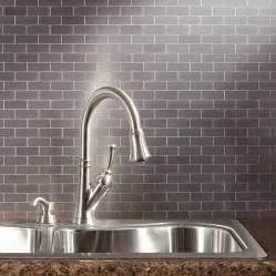 aspect matted peel stick metal backsplash tiles named to