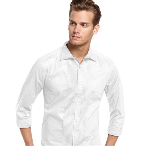 Ken We Are Not White kenneth cole wingtip tuxedo shirt in white for lyst
