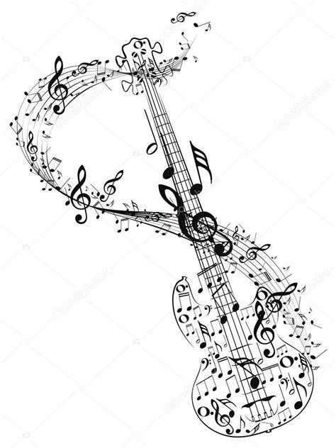 imagenes vectoriales musicales guitarra y notas musicales archivo im 225 genes vectoriales