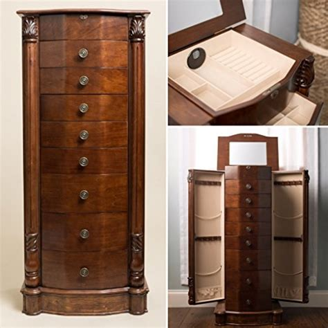 locking armoire large jewelry armoire with lock jewelry design studio