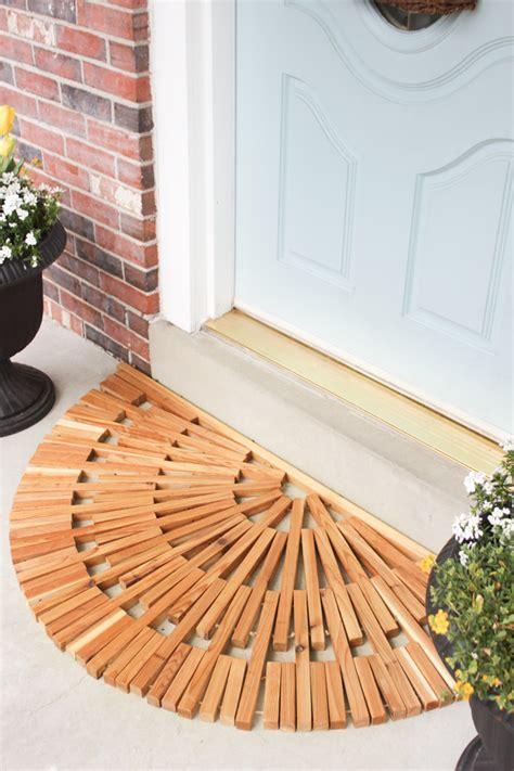 Wood Doormat by Diy Wooden Door Mat Shades Of Blue Interiors