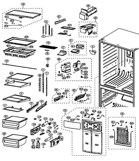 refrigerator parts samsung refrigerator parts diagram