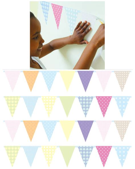 bunting wall stickers to see bunting flags wall stickers