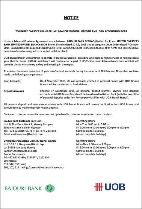 Uob Letter Of Credit baiduri bank