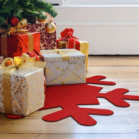tappeto feltro tappeto in feltro natalizio fiocco di neve wall it
