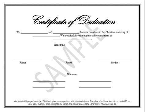 templates for dedication certificates printable child dedication certificate templates the
