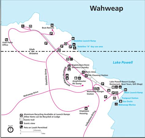 lake powell map lake powell maps npmaps just free maps period