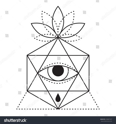design trends meaning trendy style geometric tattoo design hipster stock vector