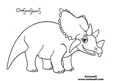 long neck dinosaur coloring page