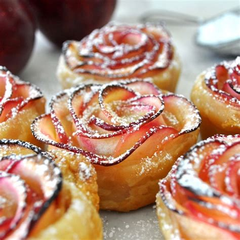 apple desserts as rose cupcakes recipe video