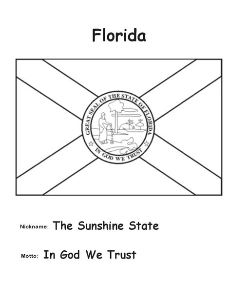 matelic image florida state flag coloring page