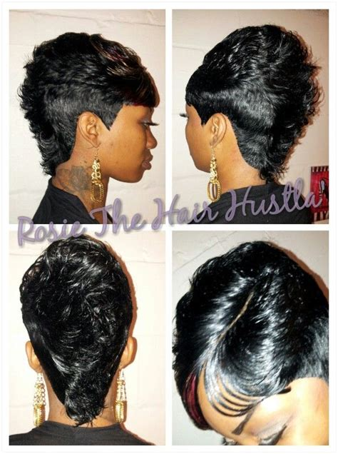 mohawk 27 piece weave hairstyles clippercut mohawk with invisible part please subscribe to