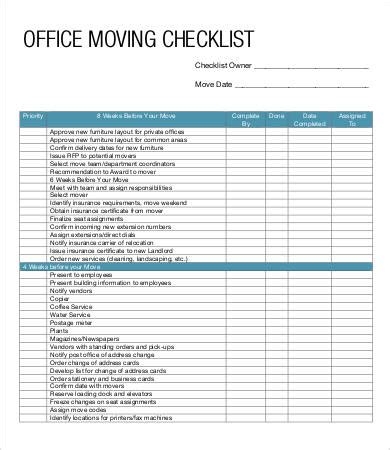 Moving Checklist Template 8 Free Pdf Documents Download Free Premium Templates Moving Plan Template