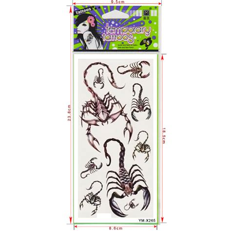 temporary tattoo paper nz scorpion totem design insect waterproof temporary tattoo