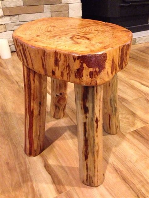 rustic log wood stool furniture  sale  tacoma wa