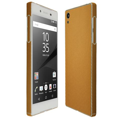 Sony Z5 Gold Second Ori skinomi techskin sony xperia z5 gold carbon fiber skin