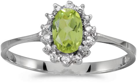 14k white gold oval peridot and ring cm rm1342xw 08