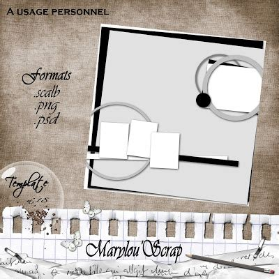 Marylou Scrap Template 18 Et Challenge Challenge Coin Template Psd