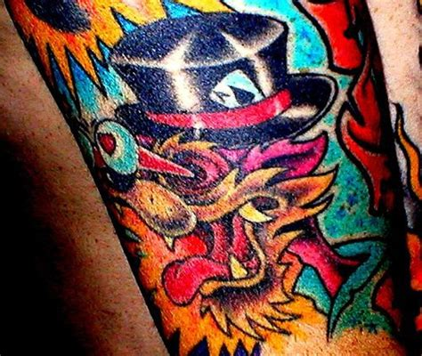 tattoo cartoon wolf bright and colorful cartoon wolf tattoo tattooimages biz