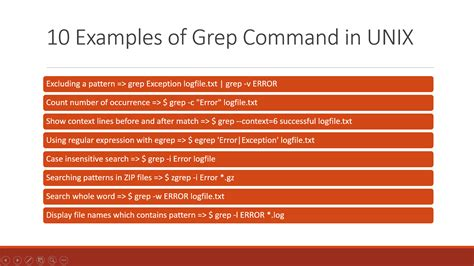 10 Exles Of Grep Command In Unix And Linux | 10 exles of grep command in unix and linux