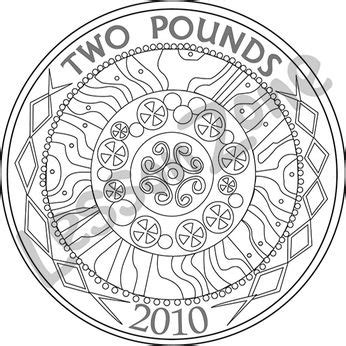Coin Outline Clip by Pound Coins Clipart 11