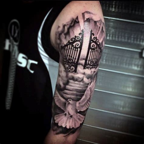 heaven gates tattoo 50 heaven tattoos for higher place design ideas