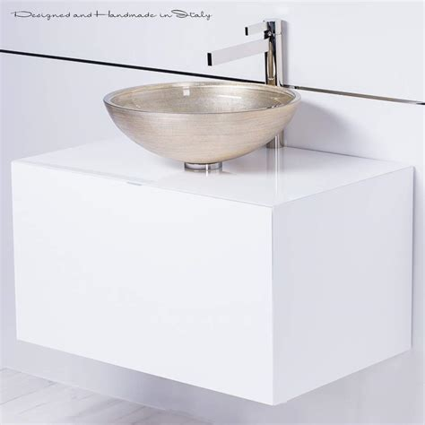 floating bathroom sinks high end 30 inch white floating bathroom vanity and vessel