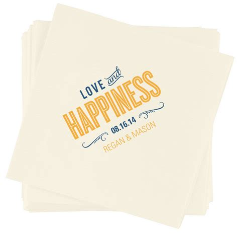 Wedding Napkin Fonts by Happiness Wedding Napkin Featuring Cyclone Font
