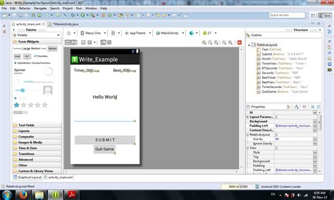 layout android app eclipse android sdk eclipse typing game how to create an
