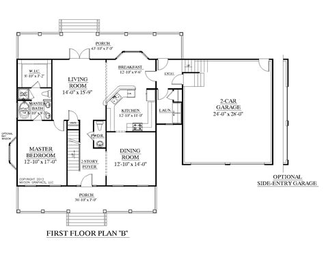 House Plans 1 1 2 Story by Southern Heritage Home Designs House Plan 2341 B The