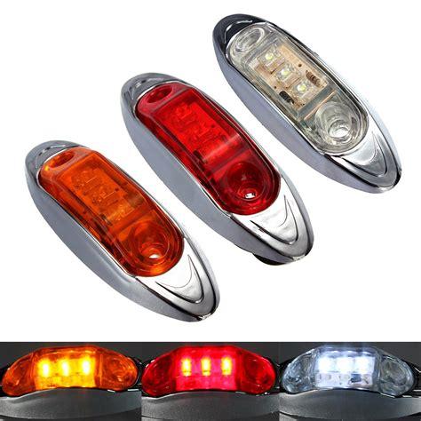 red led marker lights 10pcs lot 12v trailer truck caravan amber red white led